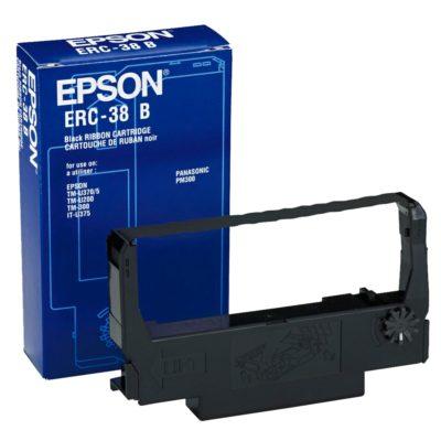 Cinta Epson ERC-38 B para impresoras matriciales de puntos de venta